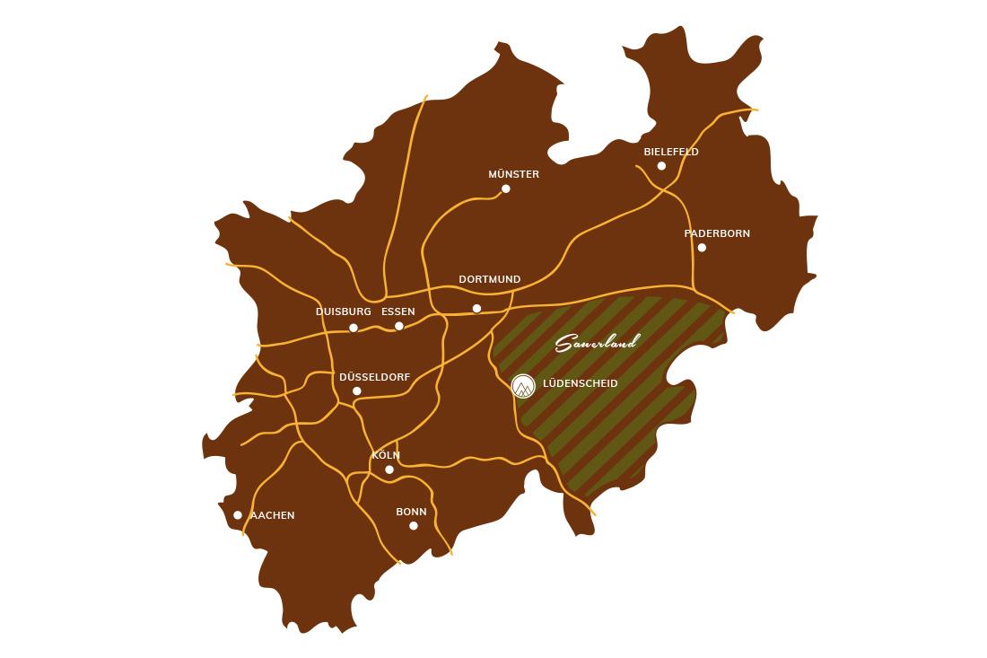 Karte Von Nrw.Nrw Karte Sportalm Gipfelglück Lüdenscheid